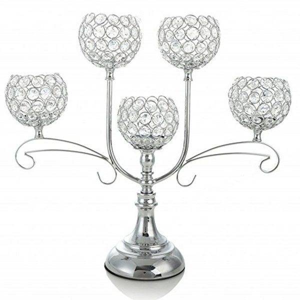 Home Decoratio Crystal Candle Holder Event Party Supplies Centerpieces Decoration Dining Tabletop Accessories Candlestick Candelabra Pillars
