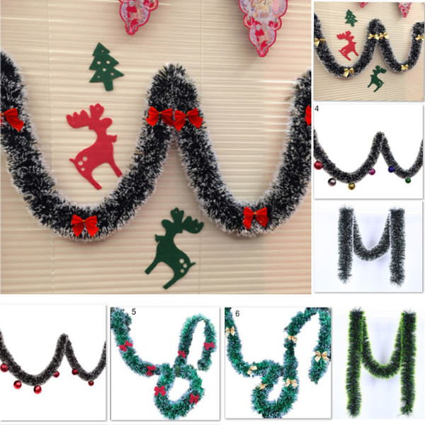 DIY Christmas Decorations Party Bar Tops Ribbon Flower Home Decoration For Christmas Snowflake Garland Christmas Tree Ornaments 2M HH7-1936