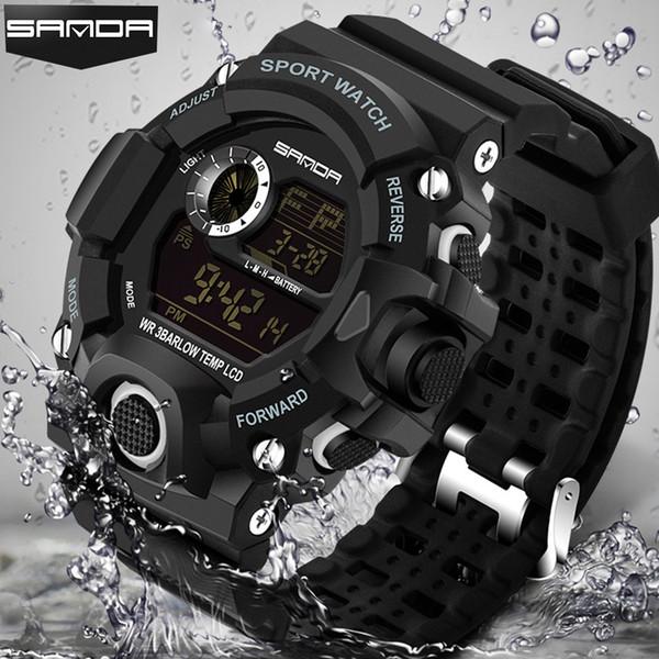Homens Relógios Esportivos S-Watch Moda Relógios De Pulso Dive Esporte Dos Homens LED Relógios Digitais À Prova D 'Água Relogio masculino