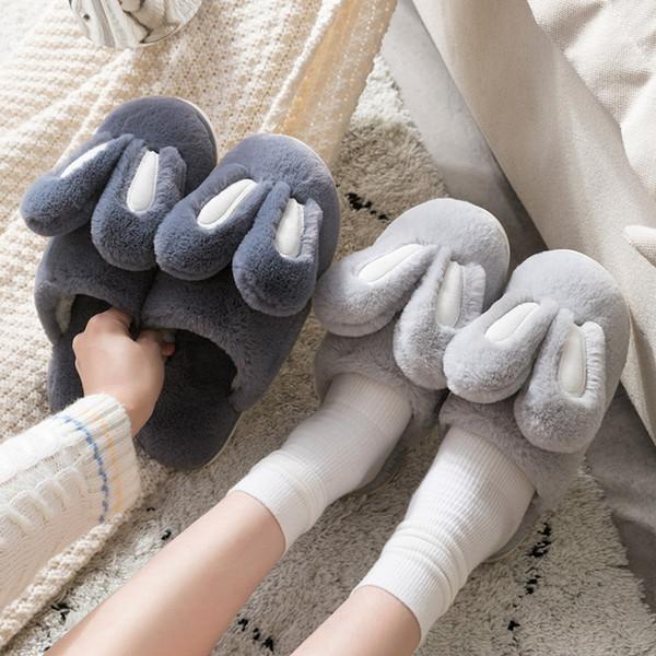 indoor warm women slippers 2019 cute animal winter fur home shoe female girl nonslip memory foam cotton house slippers