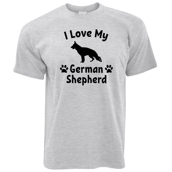Dog Owner T Shirt I Love My German Shepherd Pet Lover Cute Breed size discout hot new tshirt