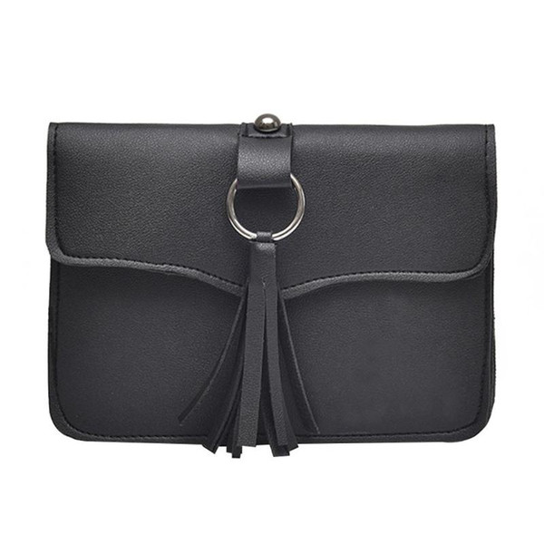 Simple Casual Belt Belt Handbag Trendy Leather Waist Bags New Fashion Women Tassels Flap Shoulder Bags Vintage Fanny Pack