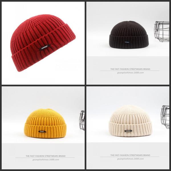 Short Paragraph Melon Hat Winter Keep Warm Beanie Male Female Hip Hop Cap Street Corner Woollen Yarn Red Black Comfort 12 5gp C1