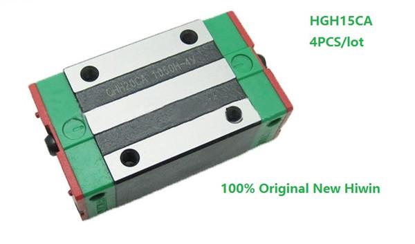 4 adet / grup Orijinal Yeni HIWIN HGH15CA lineer kılavuz rayı CNC router için doğrusal dar bloklar