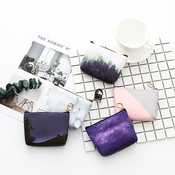100pcs/lot Hot and cool Korean Jelly Coin Bag Men and women Coin Purse Cute Candy Color Storage Bag moon Star pattern wallet