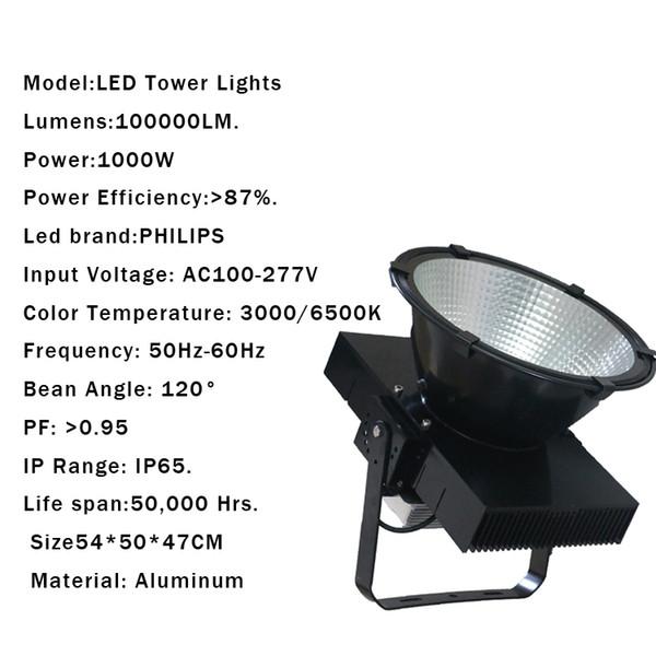 1000W IP65 AC85-265V