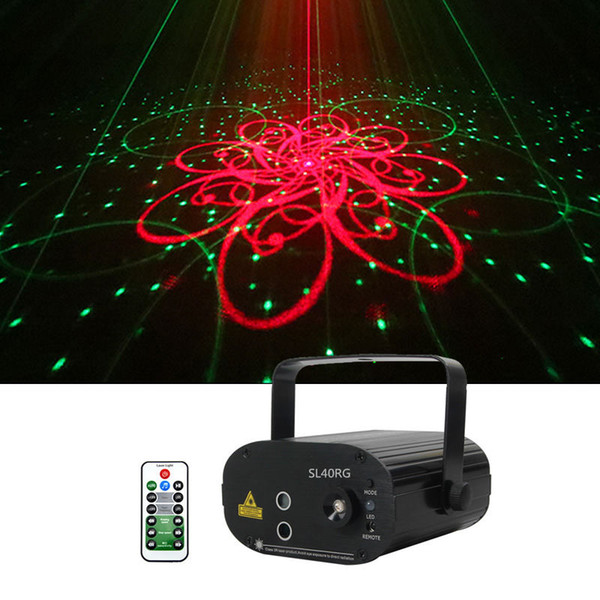Mini 3Len 40 RG Patterns Laser Projector Stage Equipment Light 3W Blue LED Mixing Effect DJ KTV Show Holiday Laser Stage Lighting SL40RG