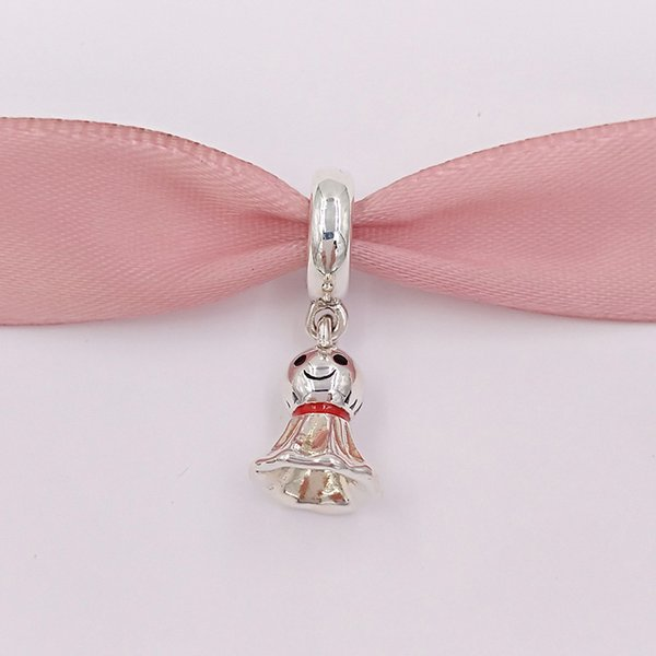 Authentic 925 Sterling Silver Beads Asian Style Sunny Dolls Charms Fits European Style Jewelry Bracelets Necklace