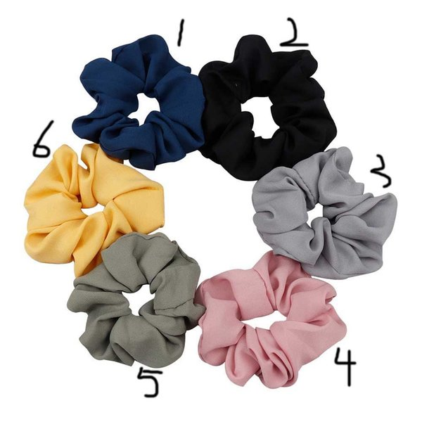 On Sale 1pcs New Large Hair Bows Scrunchies Silk Ponytail Holder Hair Accessories Elastic Bands Bowknot Scrunchy Gum
