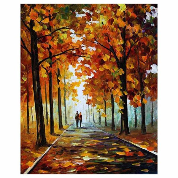 "24""x20"" Autumn forest mangrove hand painted canvas oil painting sofa background wall painting staircase porch decorative painti"