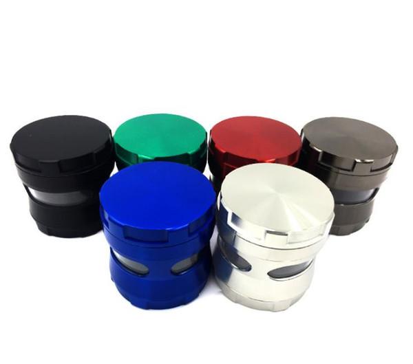 Nueva amoladora de humo de cuatro capas para venta directa por parte de los fabricantes Amoladora de aleación de zinc Cintura receptora creativa Amoladora de varios colores