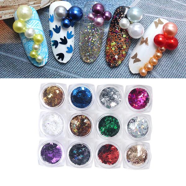 Цветы на ногтях с блестками фото