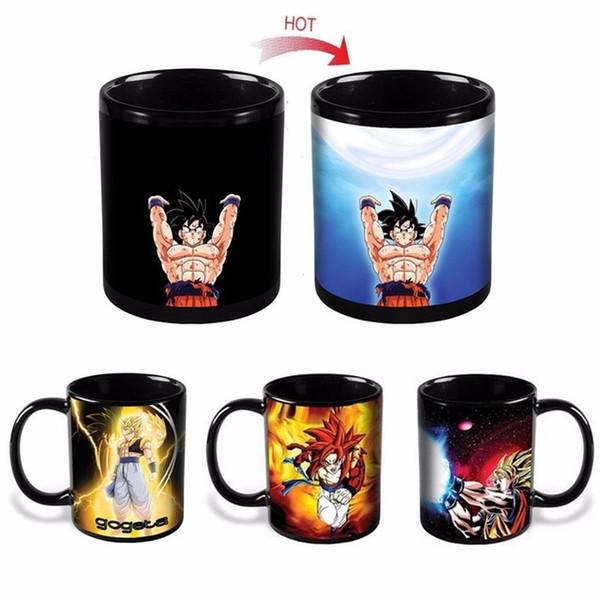 New Drinkware Dragon Ball Z Cup SON Goku Color Changing Cup Heat Reactive Ceramic Mugs Super Saiyan Milk Coffee Taza Gogeta Gift