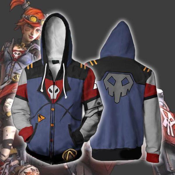 2019 Assassin Zer0 Sweatshirts Siren Maya Cosplay Borderlands 2 Costumes 3D  Printed Fashion Men And Women Hooded Zippered Jacket Top2 From