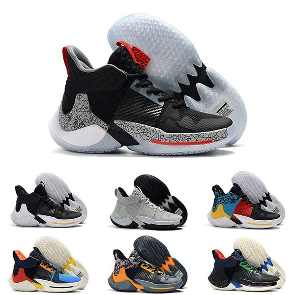 Nouveau 2019 Why Not Basketball Chaussures Homme 0.2 Sneakers Russell Westbrook Ii Zer0.2 Sneakers Tonnerre Zero 2 Original Trainers Us Taille 40-46
