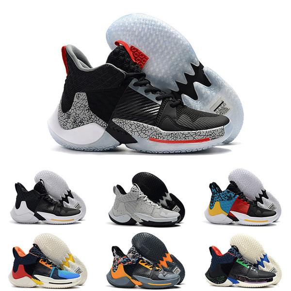 Neu 2019 Warum nicht Basketballschuhe Herren 0.2 Pf Sneakers Russell Westbrook II Zer0.2 Thunder Sneakers Zero 2 Original Trainer Us Size 40-46