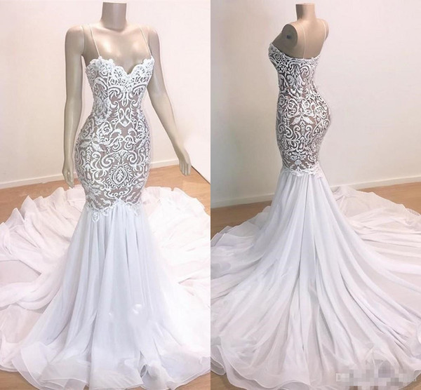 2019 Real Images V Neck Bridal Gowns Ruffles Sleeveless Elegant Lace Tulle Appliques Sweep Train Wedding Dresses Plus Size Robe De Marriage