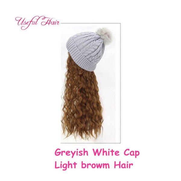 Canosos casquillo blanco cabello castaño claro