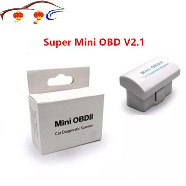 Горячая Супер Мини OBD V2. 1 Bluetooth ELM 327 OBD2 инструмент сканирования ELM327 белый синий 2 Цвет дополнительный считыватель кода