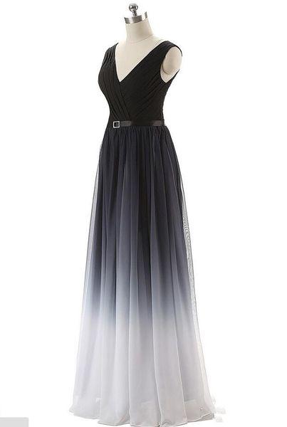 2019 El más nuevo gradiente atractivo largo vestidos de noche con encaje hasta Ombre Formal vestido de fiesta de graduación Vestido Longo AL30