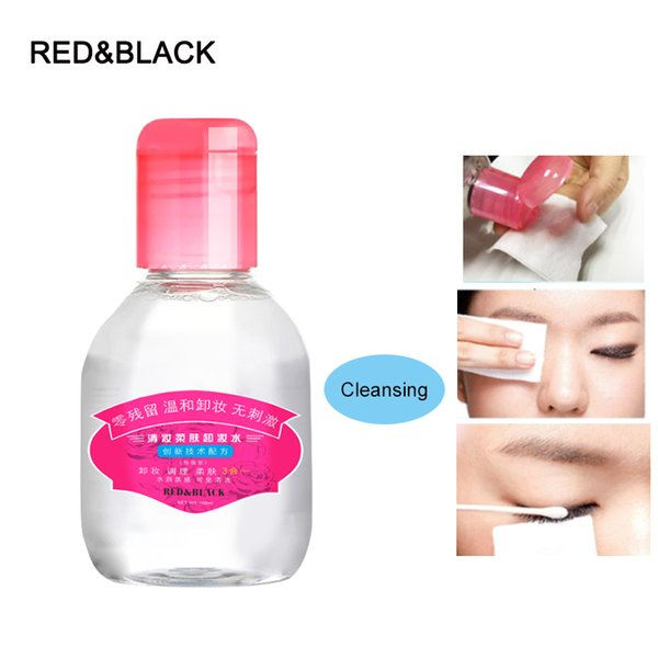 Red&Black cleansing liquid radiant remover 100ml Makeup Remover Deep Clean Eyes Lips Face Mild Clean skin care cosmetic