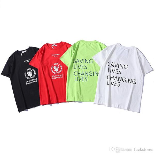 Maglietta di lusso 19ss Europa Parigi ricamo patchwork patchwork magliette moda mens designer t shirt uomo casual vestiti cotone tee 4 colori