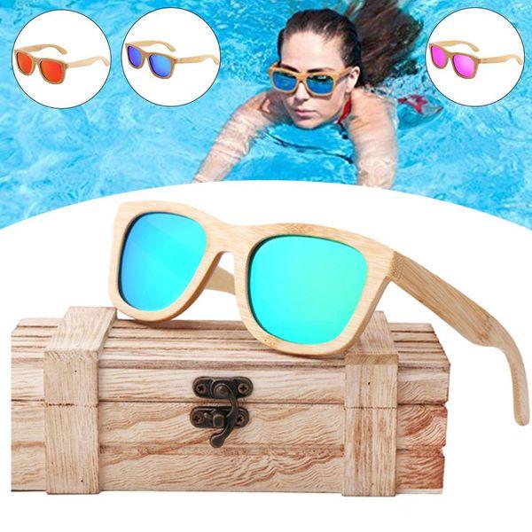 Original Wooden Sunglasses Bamboo Men Women UV400 Sun Glasses Polarized UV-resistant Sunglasses For High Quality Drving Fishing