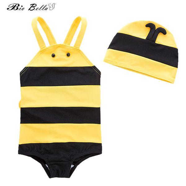 Baby Infantil Swimwear Fashion Sunscreen Swimming Bathing Swimsuit Cap+Bodysuit 2Pcs Swimsuit Children Boys Suit 1-5t