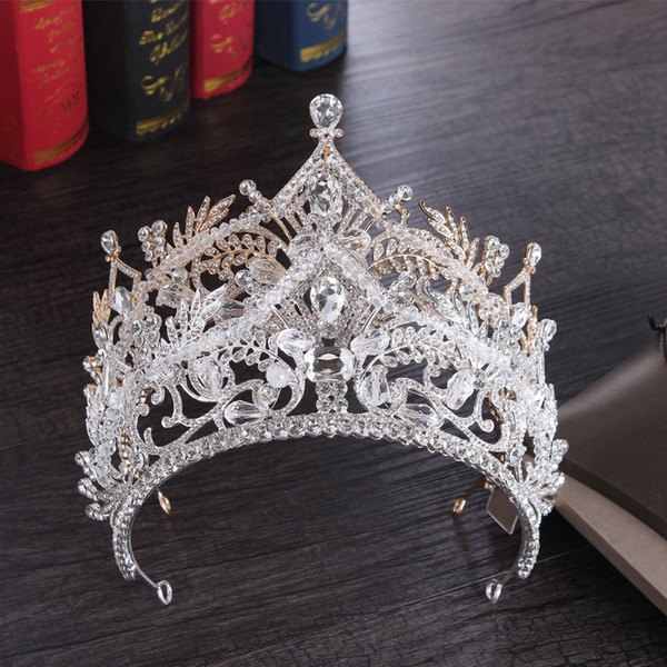 Corona nuziale di lusso Full Circle Tiaras Pageant Strass Royal King Queen Princess Crowns Wedding Bridal Brides Crown Party HeadPieces