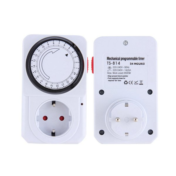 Accessories Parts Electrical Socket Plugs Adaptors 24 Hour Mechanical Electrical Plug Program Timer Power Switch Energy Saver