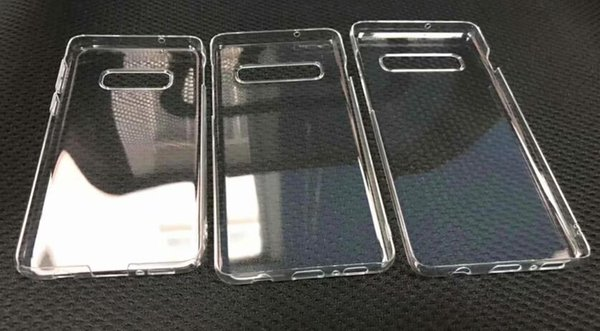 Transparent Clear Hard PC Case For Samsung Galaxy S10E S10 Plus Crystal Plastic Fashion Plain Blank Phone Skin Cover For Samsung S10 20pcs