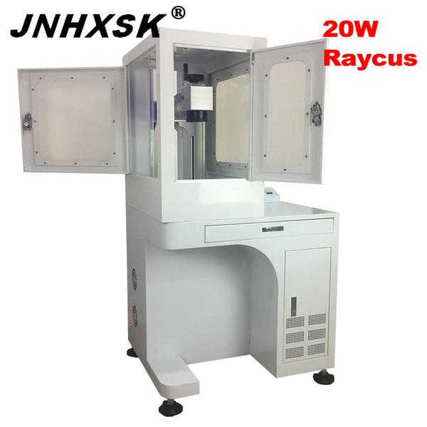 JNHXSK 20 w Fiber lazer markalama makinesi Raycus lazer kaynağı 110x110mm Fiber işaretleme makinesi Galvo kaynağı