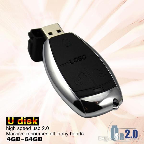 Factory price Creative Car Key Usb Flash Drive for Mercedes Benz 64GB Pen Drive Usb Memory Stick u47 4gb-128gb high quality