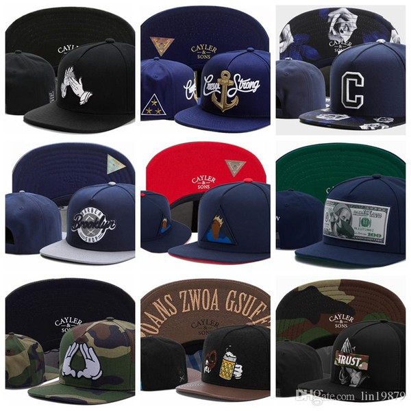 2019 summer Cayler & Sons Baseball Caps gorra bones CREW STONG C Brooklyn DAB-BEN dollar LA FAMILIA RRUST god pray camo Sports Snapback Hats