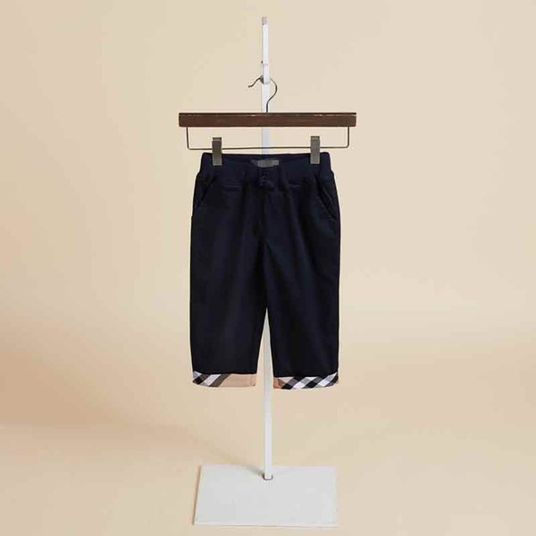 new spring and autumn boys and children's flap pants cotton casual tide fan children pants with plaid