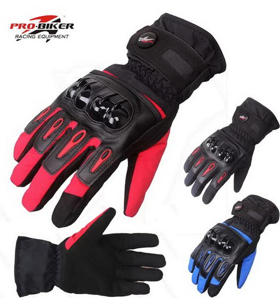 2017 neue PRO-BIKER motorradhandschuhe winter warm wasserdicht motorrad racing handschuh schwarz blau rot 3 farben größe M L XL MTV-08