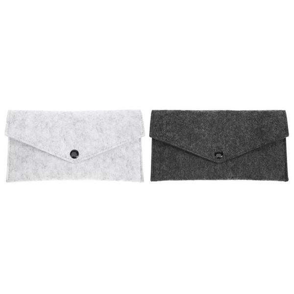 Площадь Войлок Ткань Карандаш Pen Канцелярские сумка для хранения файлов Папка Мешочек