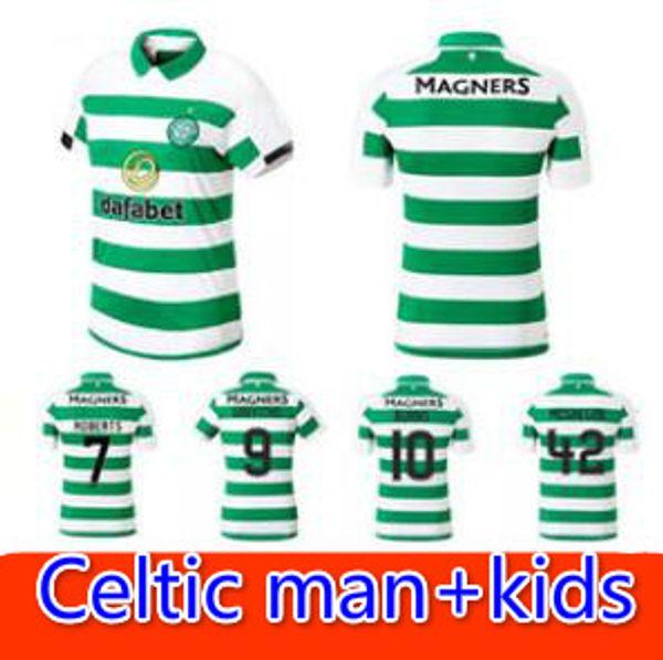 Camisa 2019 2020 CHRISTIE casa longe Celtic FC 19 20 new top camisa de futebol Celtic BITTON BROWN Rogic kida futebol kit qualidade thai