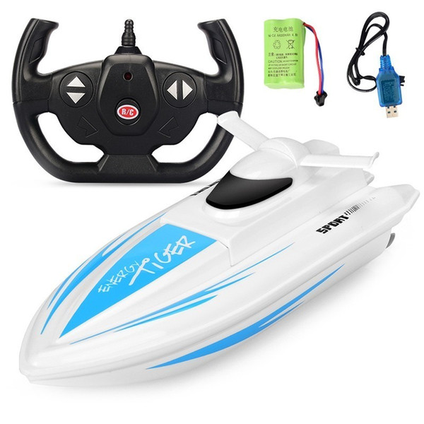 High Speed RC Boat 2.4GHz 4 CH Dual-motor Racing Remote Control Boat Children Toys High-speed Ship Toy For Children Kids Gift