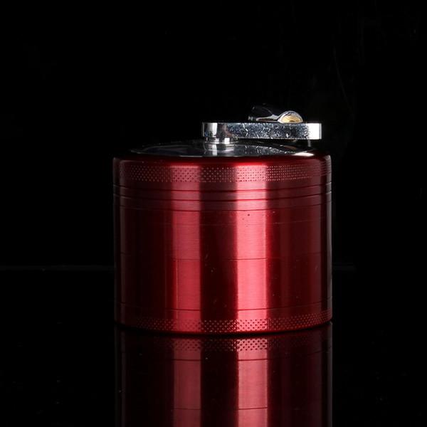 Aluminium 4 Layers Tobacco Grinder Smoke Crusher Hand Crank Muller Smoking Accessories