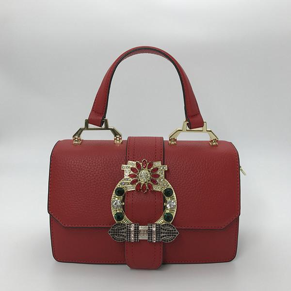 Bolsas de grife Nova Moda Feminina Sacola De Couro Bolsa Com Top Mão e Alça com Brilhar Diamante