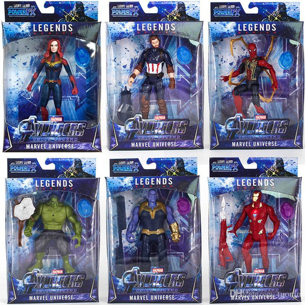 top popular New arrival Avengers 4 Marvel Action Figures Surprise Captains Thanos dolls Sound with light and moving Cartoon toys 2020