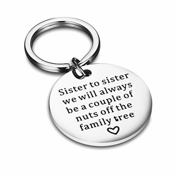 Best Sister Heart Pendants Keychain For Women Fashion Key Chain Sisters Friendship Keyring Jewelry Birthday Gifts 2019