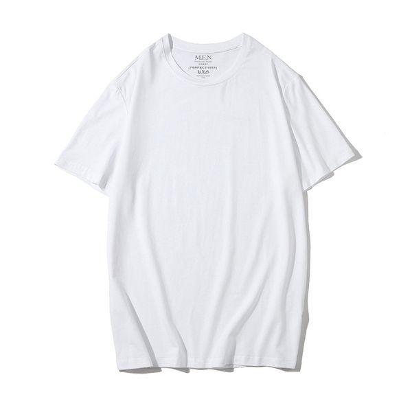 Men's plain round neck T-shirt short-sleeved lovers leggings Austria new muscle cotton