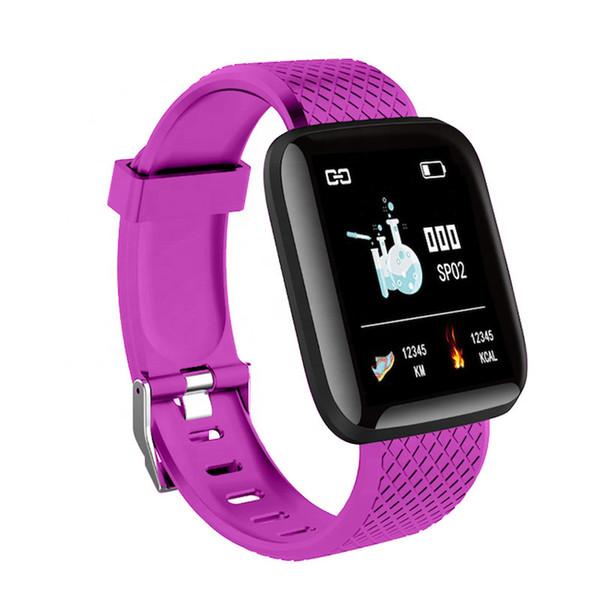 Pressione ID116 PLUS intelligente Bracciale Fitness Tracker intelligente Wristband della fascia del cardiofrequenzimetro Sangue impermeabile donne degli uomini vigilanza dell'inseguitore di attività