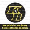 +K Patch(Not sewn on the jersey)