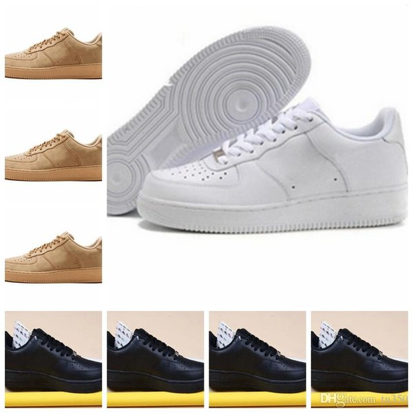 With box Cheap Brand One 1 Dunk Flyline Shoes Women Mens Low Cut Black White High Quality Skateboarding Classic Sports Sneakers US5.5-11
