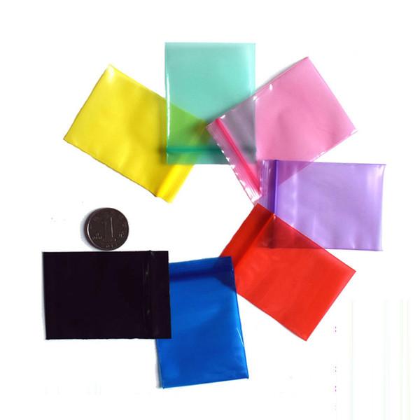 100 pz / pacco sacchetto di tabacco gioielli ziplock zip con cerniera serratura plastica richiudibile poli sacchetti colorati sacchetto di tabacco portatile