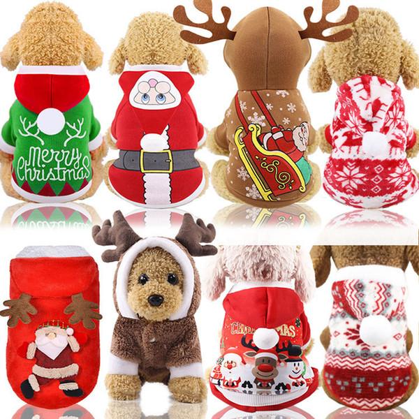 Рождество Pet Одежда для собак осень зима Pet Собаки Одежда Симпатичные Малый собак Одежда Многоцветный Рождество Pet Собаки