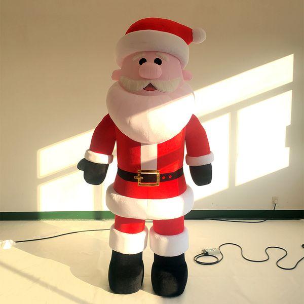 Inflatable plush Santa Claus walking cartoon inflatable christmas festival parade satge decoration